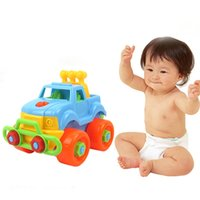 Plastics Unisex Toy Educational Wholesale- Pop Christmas Gift Kids Child Baby BoyMontessori Early Educational Toys Disassembly Assembly Classic Car Toy With Screw Drive