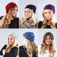 Wholesale Fashion Colors Knitted CC Women Beanie Girls Autumn Casual Cap Women s Warm Winter Hats Unisex Men Casual Hat Z464