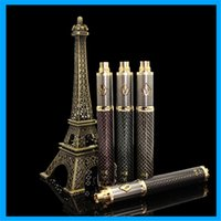 Wholesale Hot CARBON SPINNER Electronics Cigarettes mah Batteries Vision E cig gold plated decoration fit EGO thread Churchill v