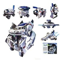 big power station - 7 in Space Fleet Solar Powered DIY Building Kit Robot Space Station Shuffle Rover Astronaut Space Fleet Solar Rechargeable Toys for Kids