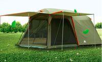 Precio de Altos tiendas de campaña-Camas dobles de alta calidad Dormitorio de lujo 5-8 personas tienda doble gruesa impermeable protector solar tienda de campaña de temporada al aire libre