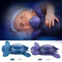 baby musical projector - Musical Turtle Star Projector Night Light Led Purple Blue Projection Lamp Sleep Lights Children Gift Baby Bedroom Toy