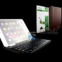 Folding Folio Case abs device - For Ipad Bluetooth Wireless Keyboard For iPad Mini Ipad Air Galaxy Tab Tab S With Tansformers Leather Stand For All Mobile Device Pieces