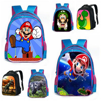 Wholesale Super Mario Bros Dinosaur School Bags Animal schoolbag Kids Boys Girls fashion print children backpack Shoulder Book Bags