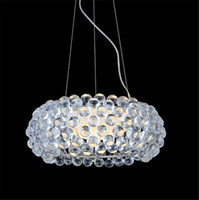 ac crystal acrylic - New Zeus sweat Crystal chandeliers Pendant Lamp CM CM CM Acrylic Ball LED Pendent Lights AC V V Fedex
