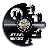 Wholesale Star Wars Death Star Designed Wall Clock Decorate your home with Modern Large Darth Vader and Luke Skywalker Art