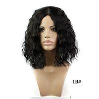 Wholesale Top Quality inch Synthetic Wig Short Hair Natural Wave Bobs Hair Wigs g Synthetic High Temperature Short Wig Can be Ironed
