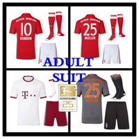 Wholesale 2016 Adult suit and sock Munich RD home Away VIDAL COATA LEWANDOWSKI MULLER ROBBEN GOTZE BOATENG ALABA soccer jersey