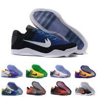 Men arrival cow boots - With Box Kobe XI Elite Low Basketball Shoes Men Original New Arrival Sneakers Cheap Retro Weaving Kobe Sport Boots Size Eur