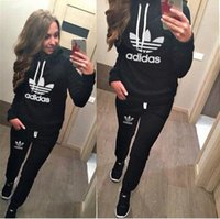 Wholesale New Lady s Sportswear Classic Women Tracksuits Fashion Woman Sports Wear Casual Clothing Sets Sport Costumes Mujer