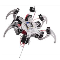 Wholesale DOF Silver Aluminium Hexapod Spider Six DOF Legs Robot Frame Kit with Ball Bearing Fully Compatible