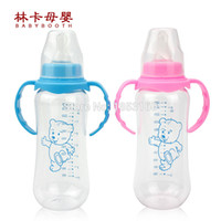 Wholesale Hot Baby Feeding Bottles With Handle Mamadeiras E Chupetas Colors ml Biberon Baby Feeding bottle Pc Bottle