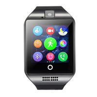 Dispositifs portables intelligents Prix-2016 Haute qualité Bluetooth Smart Watch Q18 Dispositifs portables Appareil photo Montres intelligentes Écran tactile Smartwatch Montre à bracelet Android Téléphone portable