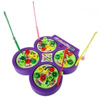 Wholesale Electronic Magnetic Four Fishing Disc Rotation With Music Hand brain Coordination Exercise Toys Family Game