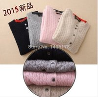 Wholesale The New Autumn And Winter Ladies Round Neck Cashmere Sweater Knit Cardigan Sweater Coat Korean Hemp Flowers