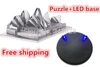 architectural base - 1 Puzzle D DIY Sydney Opera House LED base d architectural puzzles metal d puzzle for adults age