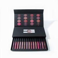 Wholesale 2017 Beauty Lipstick makeup Matte Liquid Lipgloss Long Lasting Cosmetic Lip Gloss Makeup lip colors waterproof for girl by DHL