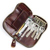 Wholesale Key Wallet For Men And Women Genuine Leather Key Wallets With Coin Pouch MOQ Piece x6 CM KG