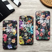 angeles apples - Fashion Flower Luminous Stussy Case Cover For iPhone S Plus Plus Phone Case New York Los Angeles