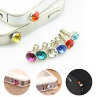 anti dust plug - Universal mm Crystal Diamond Anti Dust Plug Dustproof Earphone Jack For Iphone s s plus Smartphone