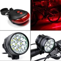 Wholesale 2017 Lm x CREE XM L T6 LED Bicycle Cycling Waterproof Light Lamp Battery Pack Rear Light BLL_00M