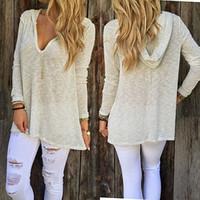 Wholesale Women Loose Cardigan Knitted Pullover Jumper Sweater Knitwear Outwear Ladies Top