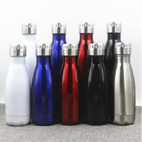 best bottled waters - Cola Cup Coke Bottle Men s Large Stainless Steel Bottle Vacuum Flask Cup Sports Bicycle Water Bottles ml Best Quality