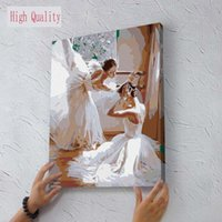 One Panel ballet picture frames - picture Wall Decor DIY Oil Painting By Number Hand Painted Oil On Canvas Painting For Living Room MS8918 Dancing Ballet