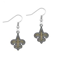 Wholesale Enamel New Orleans Saints Pendant Charm Earring American Football Team Charm Earring Fashion Drop Earrings New Design For Sport Fans
