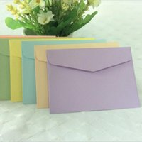 Wholesale Candy Color Paper Envelope Cute Mini Envelopes Vintage European Style For Card Scrapbooking Gift