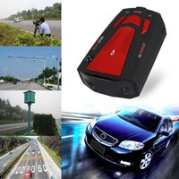Wholesale Newest Auto Degree Car Radar Detector for Vehicle V7 Speed Voice Alert Warning with Band LED Display Detector by DHL