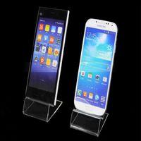 Acheter Détenteurs de téléphones mobiles acryliques-DHL livraison rapide Acrylic téléphone portable de téléphone portable stands d'affichage Stand Holder pour 6inch iphone samsung HTC