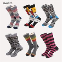 athletic sox - NEW Arrived Hit Color Strip Zebra pattern Skateboard Retro Socks Men Candy Colored Plaid Brand Ethnic Lovers sports long tube crew Sox