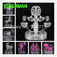 aquarius jigsaw puzzles - DIY D Jigsaw Crystal Puzzle Zodiac Aquarius Libra Scorpio Virgo Gemini Constellation Plastic Home Decoration Birthday Gift