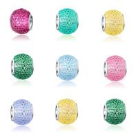 Precio de Cristales checo pulseras-El encanto cristalino tallado 100pcs / lot rebordeó los encantos grandes del grano del espaciador de Chamilia del espaciador grande de Chamilia del agujero de Rondelle que cupieron la joyería europea apta de la pulsera del encanto de Pandora
