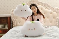 Wholesale New Hot Cute Cloud Shape Pillow and keychain Sofa Back Cushion Office Nap Bolster White kawaii pillow and pendants