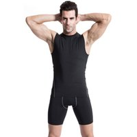 Wholesale TP94 Size S XXL Men s Sleeveless Under Base Layer Body Compression Casual Tank Tops Shirts Under Tees Tops High Flexibility
