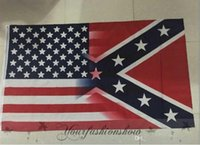 Wholesale Fedex DHL Free x150cm American Flag with Confederate Rebel Civil War Flag new style hot sell x5 Foot Flag
