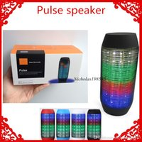 Wholesale New Pulse Speaker Pill Mini Bluetooth Wireless Audio Big Hi Fii Sound Box Support TF Card Portable Speaker With LED Light FM Mp3 Player