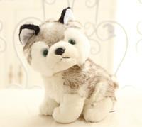 18cm Simulación Husky perrito de peluche de juguete Kawaii Puppy regalo de muñeca de peluche para niños Niños