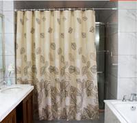 Wholesale High Quality Bathroom Fabric Shower Curtain x200cm bath curtain bath screen waterproof w shower hooks