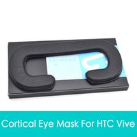 Wholesale Face Foam Replacement Eye Protection Masks pad For HTC VIVE VR PU Leather Foam Cover Black Virtual Reality accessories