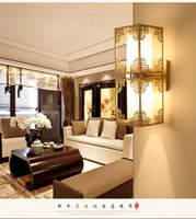 Wholesale The new Chinese style hotel bedroom wall lamp iron complex classical modern minimalist double aisle stairs lamp free delivery