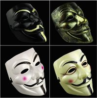 Wholesale V Mask Vendetta Party Masks Halloween Masks Party Face Masks Halloween Mask Super Scary For Vendetta Anonymous Adult Mask