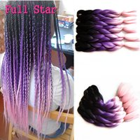 Wholesale 5 Ombre Synthetic Braiding Hair Kanekalon Mambo Twist Synthetic Hair Extension Jumbo Braids Bulk Hair Braiding