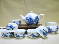 Wholesale Blue and White Porcelain with Chinese Fine Brush Heavy Color Landscape Painting PTS GBSS