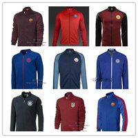 arsenal clothing - TOP THAI QUALITY Real Madrid Arsenal Manchester Chelsea AC MILAN football training clothes jacket united long sleeved sports jacket men s