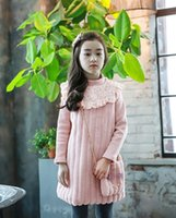 Wholesale Korean girls dress new winter warm clothing dress princess dress a long sleeved lace on behalf of