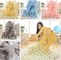 stuffed animal pillows - 1 m Plush Blankets cm Elephant Pillow Animal Stuffed Sleeping Dolls Toys Sofa Bedding Throw Pillow Cushion For Kids Adult PPA736