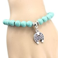 Wholesale Europe and the United States of Bohemia style Turquoise Beaded Bracelet pendant bracelet bracelet retro fashion temperament